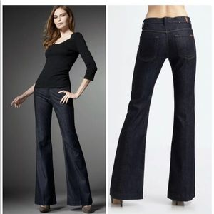 7 FOR ALL MANKIND GINGER FLARE DENIM BLUE JEANS